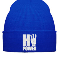 hipower embroidery hat  - Beanie Cuffed Knit Cap