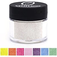 "Icy Mint - White Cosmetic Grade Glitter Powder, Ultra Fine Loose (.006"") Safe for Skin! Perfect for Makeup, Body Tattoos, Face, Hair, Lips, Soap, Lotion, & Nail Art - Made in the USA! (10 Gram Jars)"