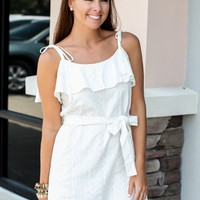 Eyes Open Tie Lace Dress - Off White