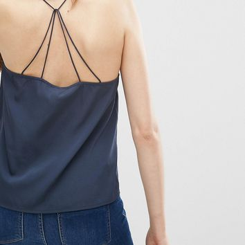 Vero Moda Simple Cami Top In Black