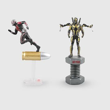 2style 6.5cm Ant-Man Antman Yellow Jacket Model Toys Movie PVC Action Figure Toy Collection Model Doll With Box