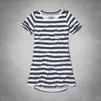 striped swing t-shirt dress