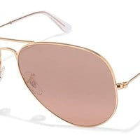 Cheap Ray-Ban RB3025 Aviator Large Metal Mirrored Unisex Sunglasses Gold Frame/Crystal outlet