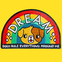 dogs rule everything around me patch