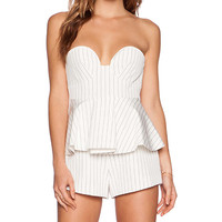 Finders Keepers Revelation Bustier Playsuit in White