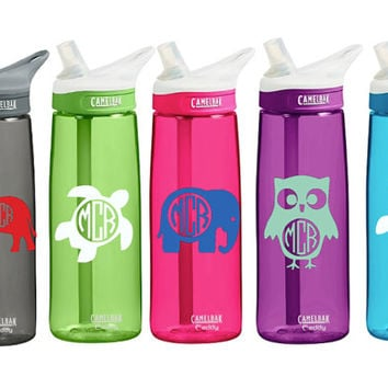 CamelBak 0.75 Eddy Insulated 20 ounce Personalized Monogram Elephant Turtle Owl Monogram Water Bottle Sports bottles Name water bottle Gift