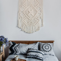 PROMO PRICE! Macrame wall hanging, vintage macrame, macrame wall art, boho decor, hippie decor, boho living room decor, Ethnic Pattern""