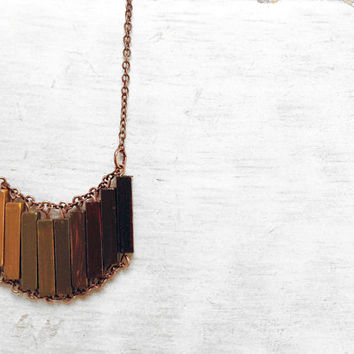 Wood Geometric Necklace // OUT OF AFRICA // Boho-Chic Jewelry // Hand-Painted Necklace // Minimal Jewelry // Modern Necklaces