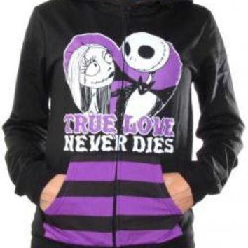 ROCKWORLDEAST - Nightmare Before Christmas, Girls Hoodie, True Love