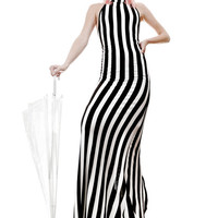 Long Pin Stripe Dress