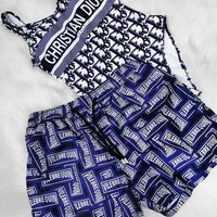 Dior & Fendi  Women Beach Fashion More Letter Print Bikini Set Swimming One Piece Bikini And Two Piece Bikini Swimsuit Swimwear