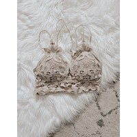 Bare It All Bralette - Light Taupe