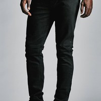 Bullhead Denim Co. Vintage Black Stacked Skinny Jeans - Mens Jeans - Black