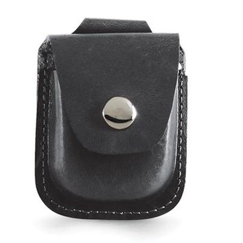 Charles Hubert Black Leather Holder For Up To 52mm Pocket Watch