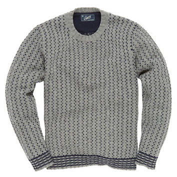 Grayers Wool-Blend Crows Foot Jacquard Sweater