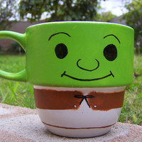 Handpainted Shrek Stackable Mug by TheCornerGeekery on Etsy