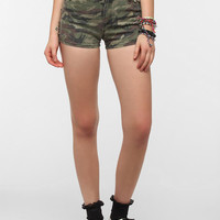 Tripp NYC Camo Studded Denim Short