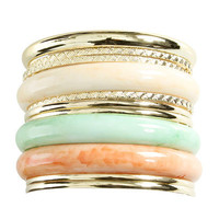 3 Marble Bangle Set | Shop Accessories at Wet Seal