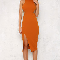 Gypset Maxi Dress Rust