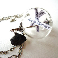 Reaping Ball Necklace Inspired By The Hunger Games - Hand Blown Glass Orb - Ode To District 12 - Katniss Peeta Primrose Gale