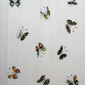 shower curtain,bathroom curtains,Butterfly shower curtain,shower decor,bathroom decor,shower curtain 180,bathroom curtain 180,curtains,