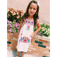 Veracruz Girl's Dress- Natural/Multi