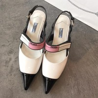 Prada Women Fashion Casual Heels Shoes-2