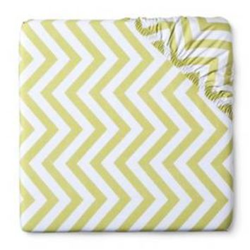 100% Cotton Woven Chevron Fitted Baby Crib Sheet Circo™ : Target