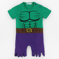Baby Boys Hulk Costume Romper Newborn Superhero Party Funny Jumpsuits Infant Avengers Playsuits