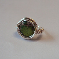 Green Stone Ring by AllyGagliardiJewelry on Etsy