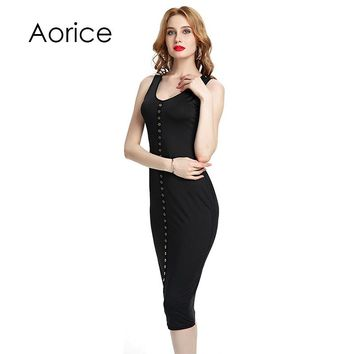 JL034 2018 Summer Fashion sexy European and American dress bandage dress metal strip night club DRESS