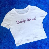 Daddy's Little Girl Crop Top