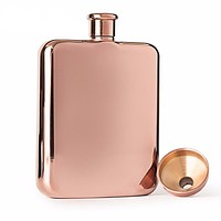 Rose Gold 6 oz Stainless Steel Flask