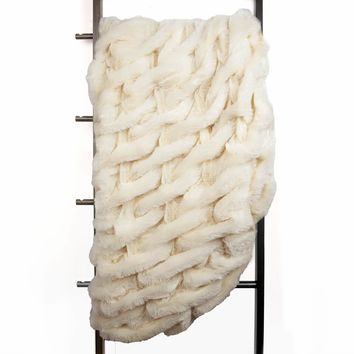 Aspen Faux Fur Throw Blanket