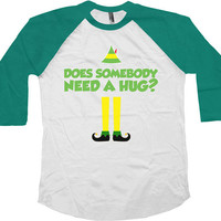 Funny Christmas Raglan Buddy The Elf Raglan Gifts For Christmas Christmas Gifts Gifts For Xmas Xmas Gifts Present For Christmas Xmas - SA494
