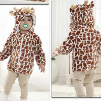 New Baby Toddler Clothing Outwear Cartoon Caroset Stereoscopic Outdoor Hoodies Sweatshirts For Spring/Autumn/Winter 4pcs/lot