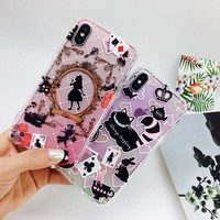 3D Anti-knock Cartoon Cat Alice in Wonderland Silicone TPU Case For iPhone X XR XS Max 7 8 Plus 6 6s 6 Plus Case Cover Fundas
