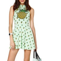 Pineapple Pattern Summer Fashion Style Lovely Women Gift - dress = 4697513732