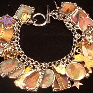 Peter Pan Altered Art Charm Bracelet by rockshanks on Etsy