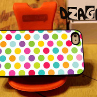 Colorful Polka case cell phone for iPhone 4/4S, iPhone 5/5S/5C and Samsung Galaxy S3/S4/S5
