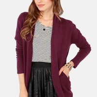 Sweater Business Bureau Purple Cardigan Sweater