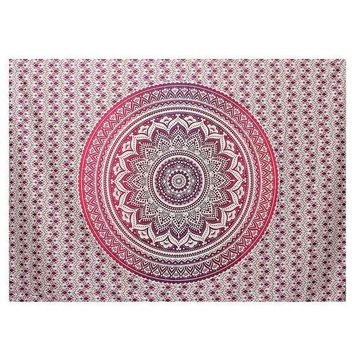 ESBU3C New Indian Mandala Tapestry Wall Hanging Printed Beach Throw Towel Yoga Mat Table Cloth Bedding Outlet Home Decor 200x150cm