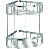 LB Filo Bath Corner Shower Caddy Shelf Basket for Shampoo, Conditioner, Chrome - More Size Options Available