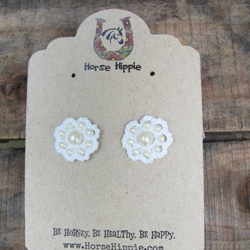 Flower Stud Tatting Earrings- 5 color choices