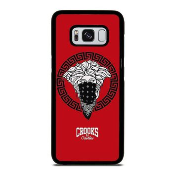 crook and castles bandana red samsung galaxy s3 s4 s5 s6 s7 edge s8 plus note 3 4 5 8  number 1