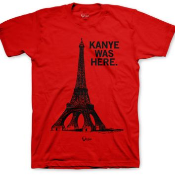 Jordan 2 Alternate 87 Kanye Was Here Red T Shirt
