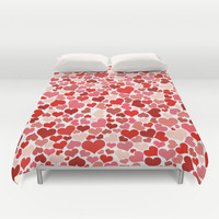 Hearts Collage Duvet Cover by Poppo Inc. | Society6