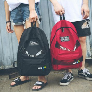 Personality School Bag Couple Backpack Girl  Street Fashion  Backpack SimpleTravel Bag
