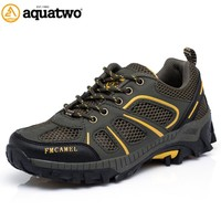 AQUA TWO Outdoor Camping Men Sports Hiking Shoes Air mesh Athletic Trekking Sneakers Breathable Durable Shoes SD-S8503