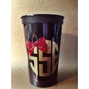 Monogrammed or Greek Stadium Cup 22 oz